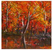 Herbst, Wasser, Malerei