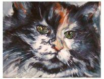 Katze, Malerei, Figural, Tiere