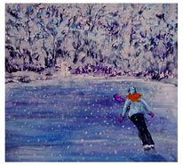 Laufen, Schnee, Frau, Kalt