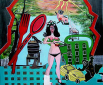 Mahen, Rasen, Malerei, Surreal