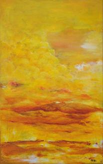 Rot, Gelb, Wolken, Landschaft