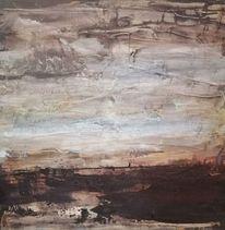 Licht, Horizont, November, Malerei