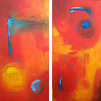 Malerei, Abstrakt, Reise