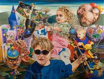 Surreal, Zeitgenössisch, Figural, Expressionismus