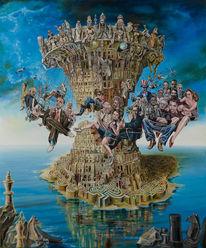 Figural, Surreal, Babylon, Malerei