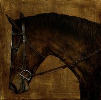 Andalusier, Pferde, Malerei, Dressur