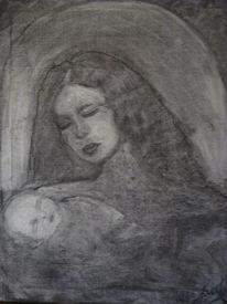 Malerei, Heiliger, Schlaf