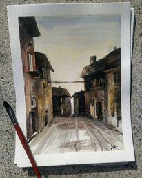 Aquarellmalerei, Malreise, Architektur, Italien