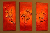 Rot, Gelb, Mohnblumen stimmung, Malerei