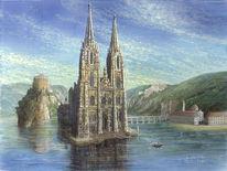 Sakralkunst, Gewerbegebiet donaupark, Weltenburg, Landschaftsmalerei