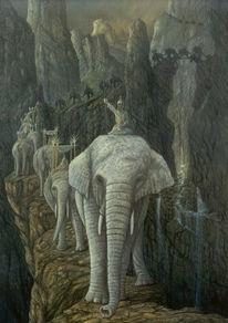 Mountain museum, Hannibal alpen, Fantastische kunst, Zeitgenössische malerei