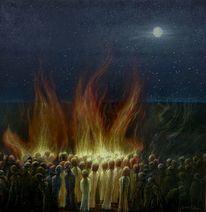 Opfer, Religion, Feuer, Zeitgenössisch