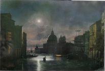 Friedrich nerly, Gondel, Wolken, Landschaftsmalerei