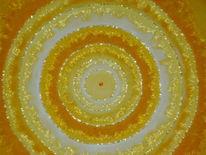 Gelb, Gold, Kristallperlen, Mandala