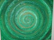 Grün, Energiespirale, Meditation, Gesundheit