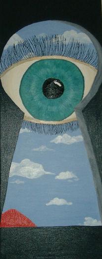 Surreal, Augen, Wolken, Himmel