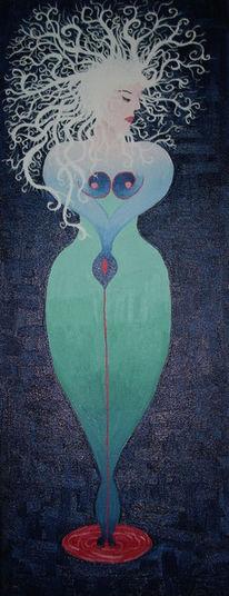 Frau, Surreal, Malerei, Menschen