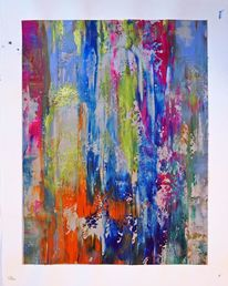 Abstrakt, Firnis, Acrylmalerei, Farben