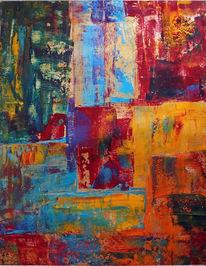 Farben, Acrylmalerei, Gemälde, Spachtel