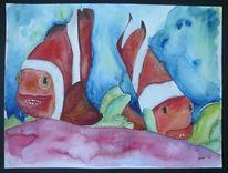 Clown, Fisch, Wasser, Figur