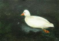 Tiere, Acrylmalerei, Ente, Malerei