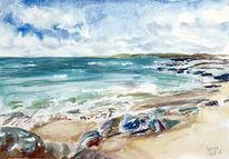 Küste, Strand, Connemara, Meer