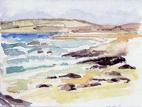 Coral beach irland, Malerei