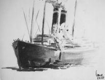 Dampfschlepper, Hafen, Passagiersschiff, Schiff