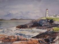 Meer, Irland, Leuchtturm, Küste