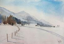 Jachenau, Langlauf, Loipe, Schnee