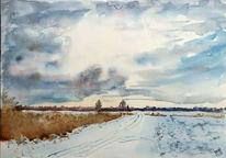 Schnee, Schutter, Ingolstadt, Winter