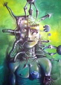 Groß, Licht, Fantasie, Acrylmalerei