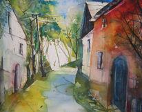 Weinviertel, Kellergassen, Aquarellmalerei, Aquarell