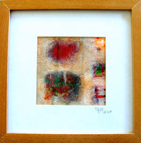 Acrylmalerei, Kleinformatig, Strukturpaste, Abstrakt
