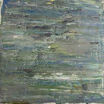 Spachteltechnik, Grün, Abstrakt, Acrylmalerei