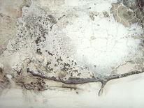 Malerei, Abstrakt, Ausschnitt, Schwarz
