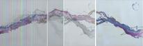 Abstrakt, Triptychon, Acrylmalerei, Malerei