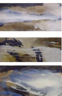 Airbrush, Triptychon, Abstrakt, Malerei