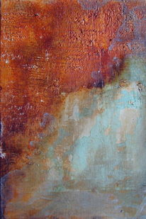 Terrakotta, Schwarz, Acrylmalerei, Malkarton