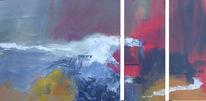 Acrylmalerei, Abstrakt, Triptychon, Malerei
