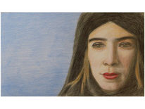 Portrait, Schwarz, Blau, Selbstportrait