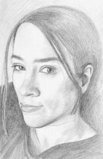 Zeichnung, Selfie, Portrait, Ego