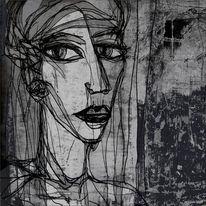 Portrait, Fenster, Turm, Kerker