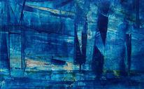 Dunkelblau, Hellblau, Mittelblau, Malerei