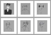 Blick, Gesicht, Skizze, Zeichnungen