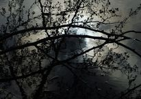 Augenblick, Spiegelung, Wolken, See