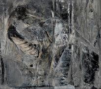 Flügel, Surreal, Vogel, Grau
