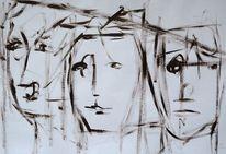 Malerei, Nehmen, Gestalt, Falsche
