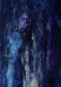 Schwarz, Lila, Blau, Malerei