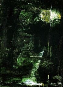 Schatten, Dunkel, Urwald, Grün